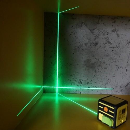 ЛАЗЕРНИ НИВЕЛИРИ - Лазерен нивелир (зелен лъч) и кръстосани линии CIMEX CUBE GREEN