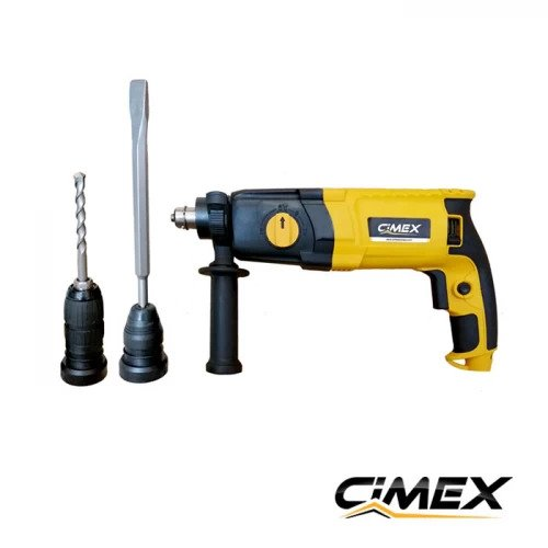 ПРОМО ПАКЕТ! Перфоратор с бързосменяем патронник CIMEX HB3 + Акумулаторен винтоверт CIMEX CD12V30NM.
