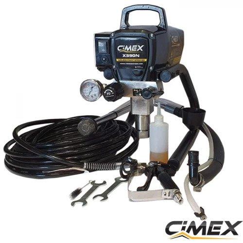 Машина безвъздушно боядисване + Точков / линеен лазерен нивелир с 5 точки CIMEX SL5D