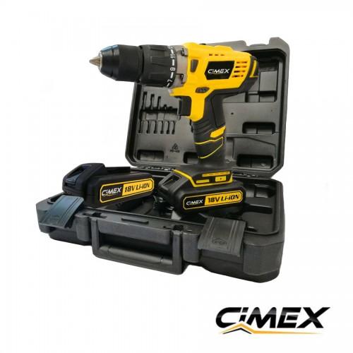 Акумулаторен винтоверт CIMEX CD18V58NM-T 58Nm / 2x2,0 Ah