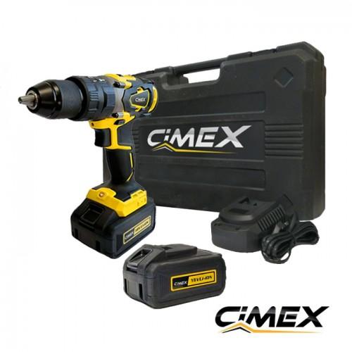 Акумулаторен ударен винтоверт CIMEX CD18V62NM-B - 62 Nm / 2 х 4.0 Ah