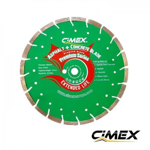 Диамантени дискове - Комбиниран диамантен диск за бетон и асфалт 300 мм.