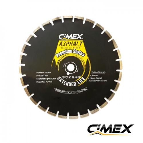 Диамантени дискове - Диамантен диск за асфалт 450 мм.  CIMEX ASP450