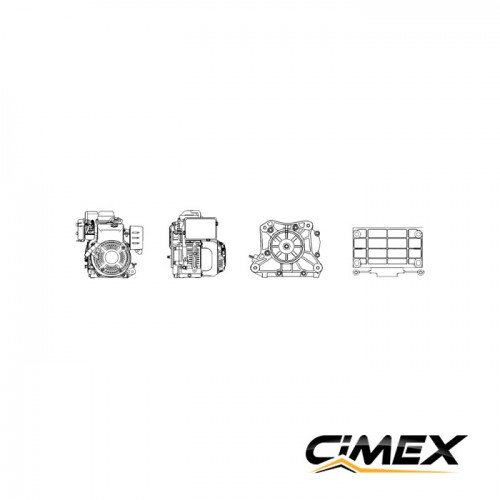 ДВИГАТЕЛИ - Двигател CIMEX G100 4.3 к.с