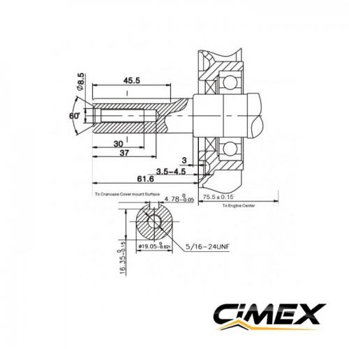 ДВИГАТЕЛИ - Бензинов двигател 6.5к.с CIMEX G200