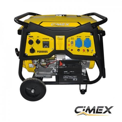 ГЕНЕРАТОРИ ЗА ТОК - Генератор за ток 6.5 kW, AVR, ATS букса, електрически старт - CIMEX PG8000S