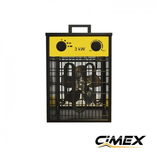 ЕЛЕКТРИЧЕСКИ КАЛОРИФЕРИ - Електрически калорифер 3.0kW, CIMEX EL3.3