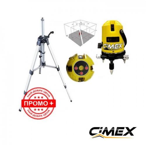ЛАЗЕРНИ НИВЕЛИРИ - Лазерен нивелир Cimex 1H4V + статив + ваучер за 10 отстъпка!