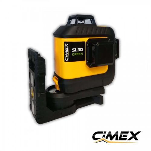 Лазерен нивелир 360 градуса, зелен лъч CIMEX SL3D-G