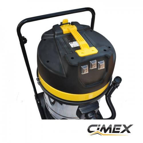 МАШИНИ ЗА ПОЧИСТВАНЕ - Прахосмукачка за сухо и мокро почистване 3.0 kW, CIMEX VAC80L