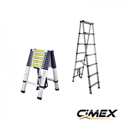 ДВУРАМЕННИ ТЕЛЕСКОПИЧНИ СТЪЛБИ - Телескопична А-образна стълба 2.0 м