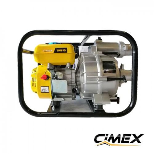 БЕНЗИНОВИ ВОДНИ ПОМПИ - Бензинова водна помпа за отпадни води (траш помпа) Cimex TWP75