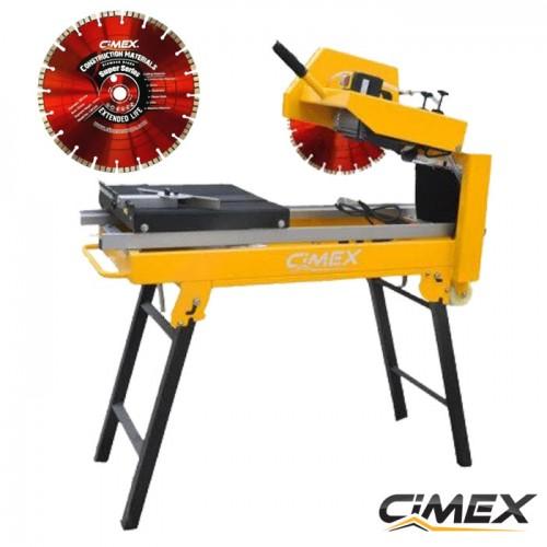 ОТРЕЗНИ МАСИ ЗА ТУХЛИ - Маса за рязане на строителни материали CIMEX MS350 + Диамантен диск за строителни материали CIMEX CMS350