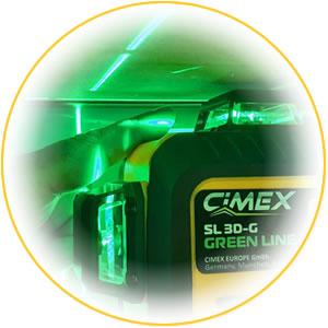 Лазерен нивелир 360 градуса (3D) със зелен лъч